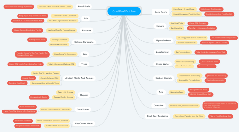 Mind Map: Coral Reef Problem