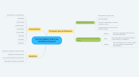 Mind Map: PLATAFORMAS PUBLICAS INTERNACIONALES