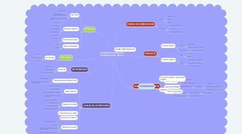 Mind Map: ELEMENTOS POSITIVOS Y NEGATIVOS DEL DELITO