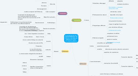 Mind Map: Accompagnement de la professionnalisation des infirmiers nouvellement diplômés en France :  Une étude qualitative.