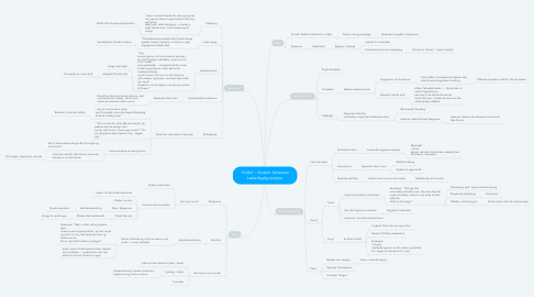 Mind Map: 'Hullet' - Anders Johansen Lærerfaglig analyse