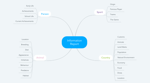 Mind Map: Information Report