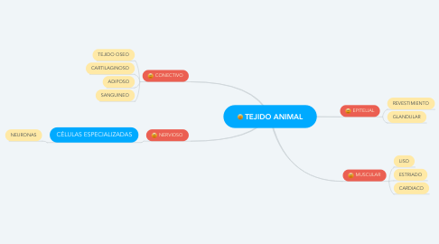 Mind Map: TEJIDO ANIMAL