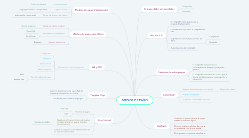 Mind Map: MEDIOS DE PAGO