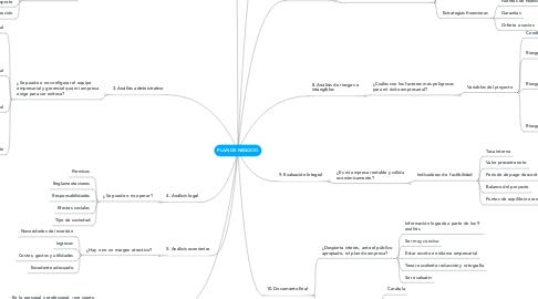 Mind Map: PLAN DE NEGOCIO
