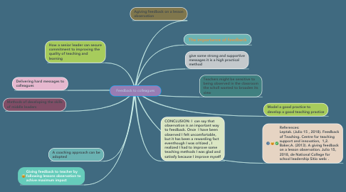 Mind Map: Feedback to colleagues