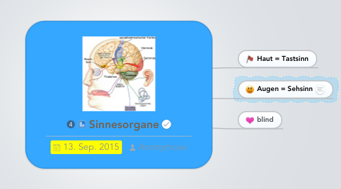 Mind Map: Sinnesorgane