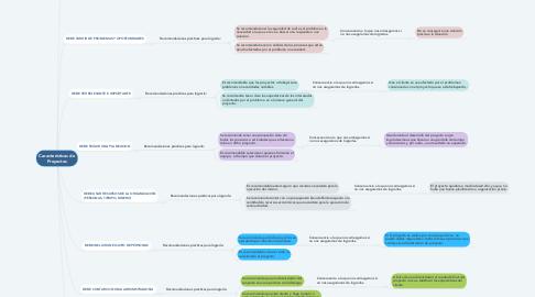 Mind Map: Características de Proyectos