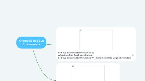 Mind Map: Affordable Bed Bug Exterminators