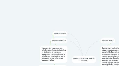 Mind Map: NIVELES DE ATENCIÓN DE SALUD