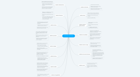 Mind Map: TIPOS DE AUDITORIA
