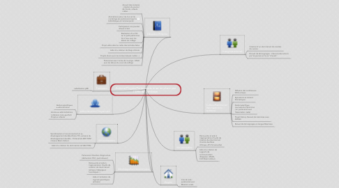 Mind Map: Actions/Projets/Partenariats mise en place parl