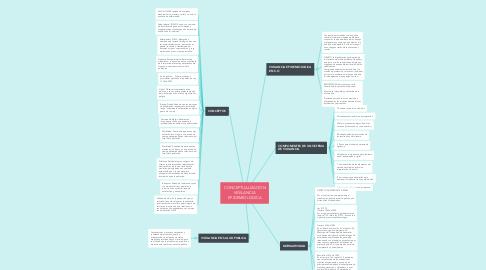 Mind Map: CONCEPTUALIZACION VIGILANCIA EPIDEMIOLOGICA