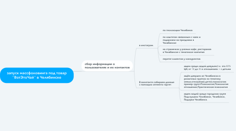 """Mind Map: запуск массфоловинга под товар """"ВотЭтоЧай"""" в Челябинске"""