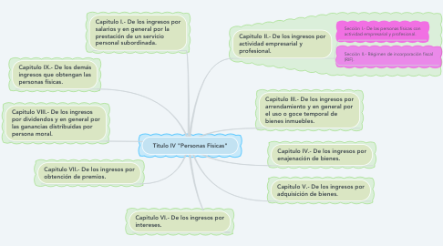 "Mind Map: Titulo IV ""Personas Físicas"""