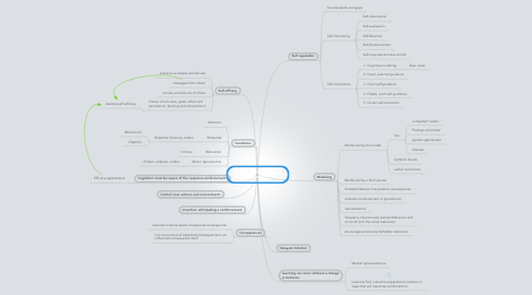 Mind Map: Social Cognitive Theory Chapter 6