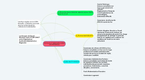 Mind Map: VOS ELUS ET MANDATES DANS LES INSTANCES