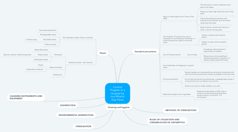 Mind Map: Control Program In a Hospital by Luis Alberto Diaz Perez