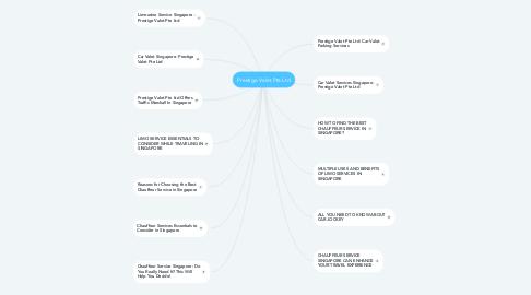 Mind Map: Prestige Valet Pte Ltd