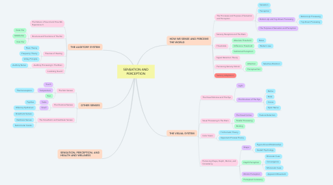 Mind Map: SENSATION AND PERCEPTION