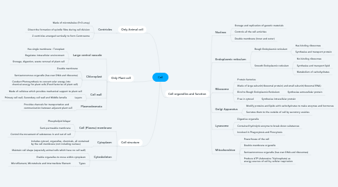 Mind Map: Cell
