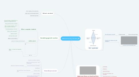 Mind Map: Reflectieverslag Visiedag