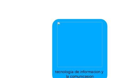 Mind Map: tecnologia de informacion y  la comunicasion