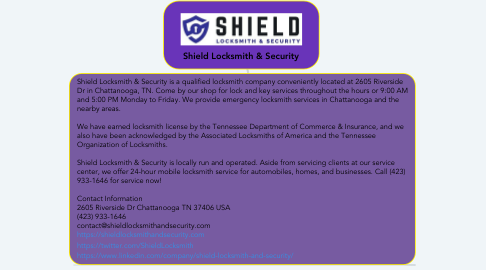 Mind Map: Shield Locksmith & Security