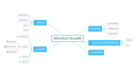 Mind Map: ORGANELAS CELULARES
