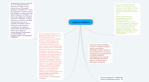 Mind Map: Legislación Ambiental