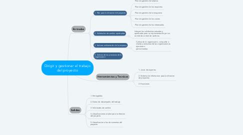 Mind Map: Dirigir y gestionar el trabajo del proyecto