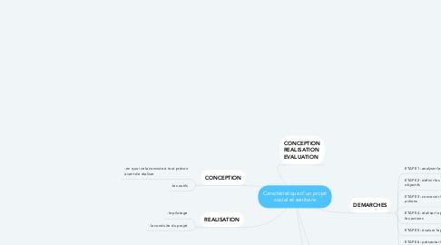 Mind Map: Caractéristique d'un projet social et sanitaire