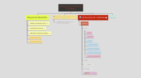 Mind Map: PROCESO DE REGISTRO CONTABLE