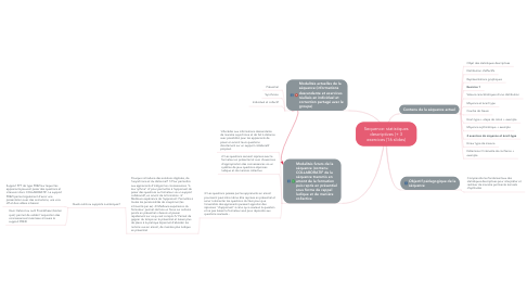 Mind Map: Sequence: statistiques descriptives (+ 3 exercices (16 slides)