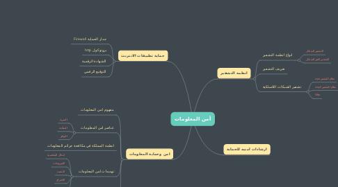 Mind Map: أمن المعلومات
