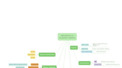 Mind Map: BIENVENIDO A NUESTRO CENTRO