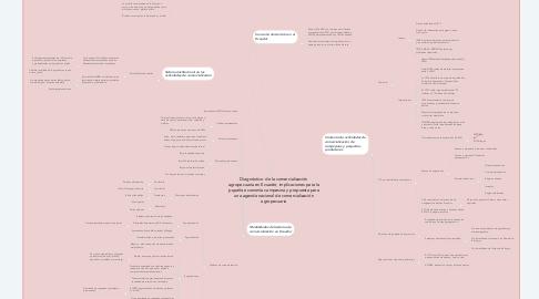 Mind Map: Diagnóstico  de la comercialización agropecuaria en Ecuador, implicaciones para la pqueña economía campesina y propuesta para una agenda nacional de comercialización agropecuaria