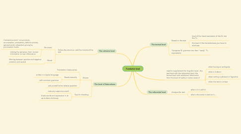 Mind Map: Translation level