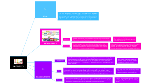 Mind Map: NUTRIENTS