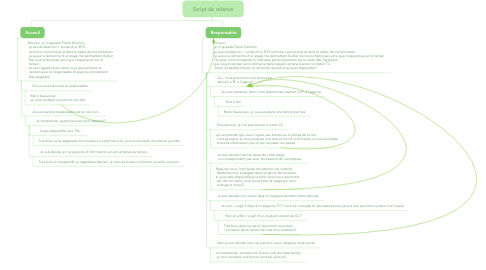 Mind Map: Script de relance