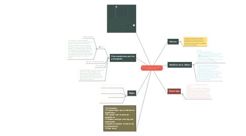 Mind Map: Debates (Factores que fomentan el aprendizaje adulto)