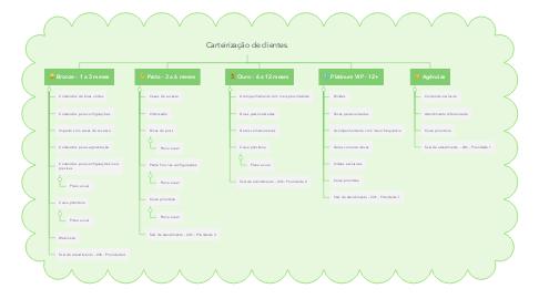 Mind Map: Carteirização de clientes.