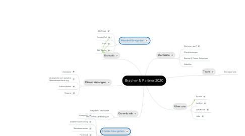 Mind Map: Bracher & Partner 2020