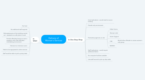 Mind Map: Delivery of Woman's Services