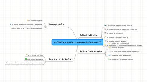 Mind Map: Les COFO au coeur des compétences des Services et DG