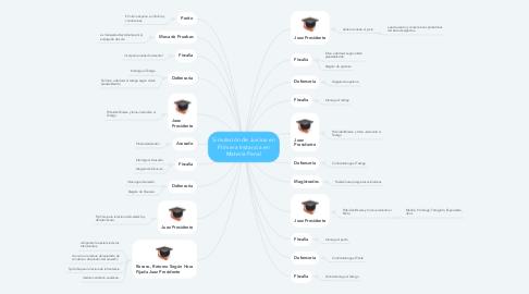 Mind Map: Simulación de Juicios en Primera Instancia en Materia Penal