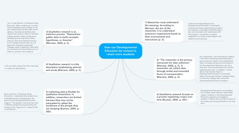 Mind Map: How can Developmental Education be revised to retain more students