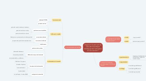 Mind Map: Chapitre 4: Quels sont les choix de mercatique stratégique de l'entreprise sur son marché ?