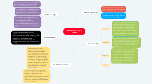 Mind Map: The Prehistoric Age in Turkey