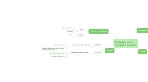 Mind Map: Curriculum vitae        Giuchici Alexandru